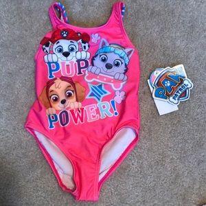 Toddler Girls Paw Patrol Bathing Suit 2T